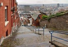 De trap Luik van de stadsmening Stock Foto