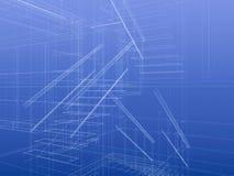 De trap van de blauwdruk Royalty-vrije Stock Afbeeldingen