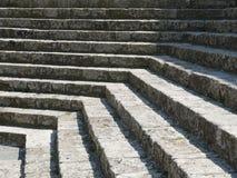 De trap van de kerk Stock Foto