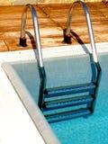 De trap van de pool Stock Foto