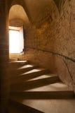 De trap van het kasteel Stock Afbeelding
