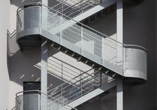 De trap van het staal Stock Foto's