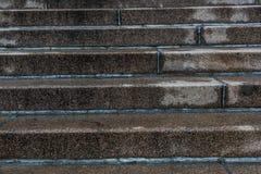 De trap van het stapgraniet Stock Afbeeldingen