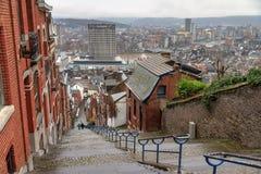 De trapmening van Luik vanaf de bovenkant Royalty-vrije Stock Foto