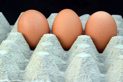 De tre äggen Royaltyfri Fotografi