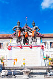 De tre konungarna monument, Thailand Royaltyfri Foto
