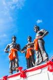 De tre konungarna monument, Thailand Royaltyfri Bild