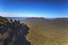 De tre systrarna, blåa berg, Australien Arkivfoto