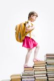 De treden van het boek Stock Foto's