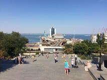 De treden van Odessa potemkin in echt - tijd! stock fotografie