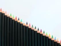 De treden van potloden Stock Foto
