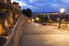 De treden van Praag Historische stad van Praag stock foto