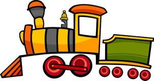 De trein of de locomotief van het beeldverhaal Stock Foto