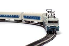 De trein en de spoorweg van het stuk speelgoed Stock Afbeelding
