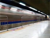 De trein komt Royalty-vrije Stock Fotografie
