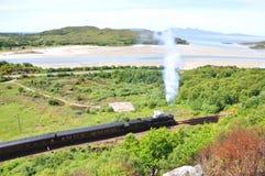 De trein Schotland van Harry Potter. Royalty-vrije Stock Foto's