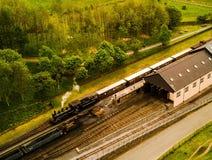 De trein van de bergstoom Stock Fotografie