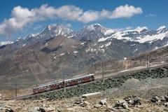 De trein van de berg Royalty-vrije Stock Foto's