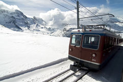De trein van de berg Stock Afbeeldingen