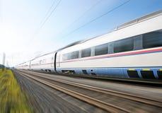 De trein van de hoge snelheid. Stock Foto's