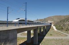 De trein van de hoge snelheid Stock Afbeelding