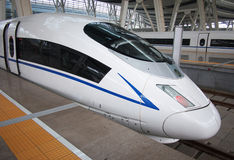 De Trein van de hoge snelheid, Spoorweg stock fotografie