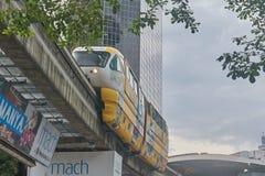 De Trein van de hoge snelheidsmonorail stock afbeeldingen