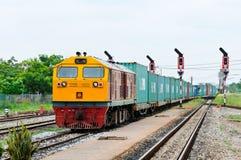 De trein van de lading stock foto
