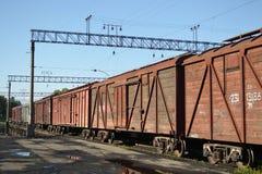 De trein van de lading Royalty-vrije Stock Afbeelding