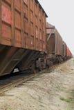 De trein van de lading Stock Foto's