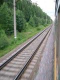 De trein van de motie Stock Afbeeldingen