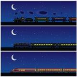 De trein van de nacht Stock Fotografie