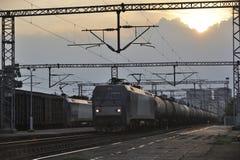 De trein van de olietankwagen Stock Afbeelding