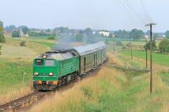 De trein van de passagier royalty-vrije stock afbeelding