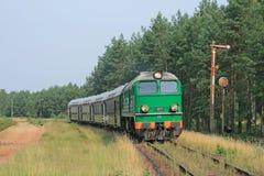 De trein van de passagier stock afbeeldingen
