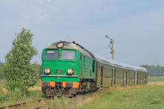 De trein van de passagier royalty-vrije stock afbeeldingen