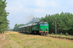 De trein van de passagier royalty-vrije stock fotografie