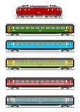 De trein van de passagier vector illustratie