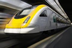 De Trein van de passagier stock afbeelding