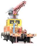 De trein van de reparatie Stock Foto's