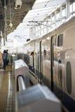 De trein van de Shinkansensnelheid Stock Afbeeldingen