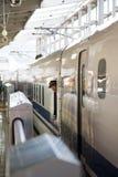 De trein van de Shinkansensnelheid Stock Foto
