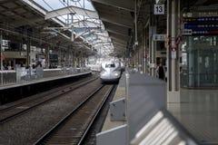 De trein van de Shinkansensnelheid Stock Fotografie