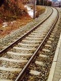 De trein van de spoorweg Royalty-vrije Stock Afbeeldingen