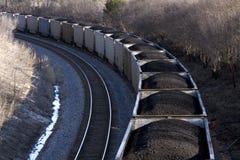 De trein van de steenkool. Royalty-vrije Stock Afbeeldingen