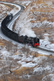 De trein van de stoom royalty-vrije stock foto's
