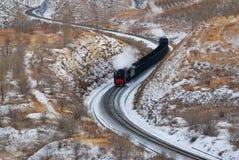 De trein van de stoom royalty-vrije stock afbeeldingen