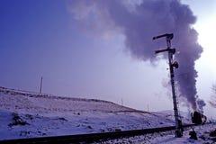 De trein van de stoom stock afbeeldingen
