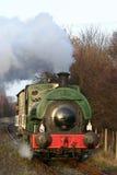 De trein van de stoom op het Centrum van de Erfenis Elsecar Royalty-vrije Stock Foto's