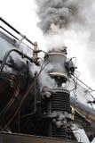 De trein van de stoom op spoorwegtreno een vapore Royalty-vrije Stock Afbeeldingen